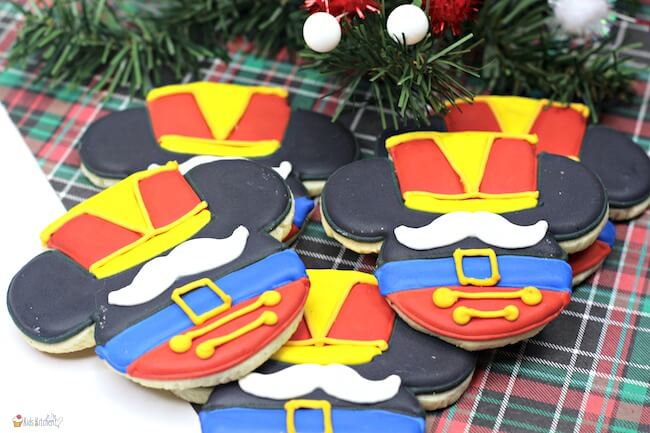 ttention Disney fans: these Mickey Mouse nutcracker sugar cookies are just the thing for your Christmas cookie spread!