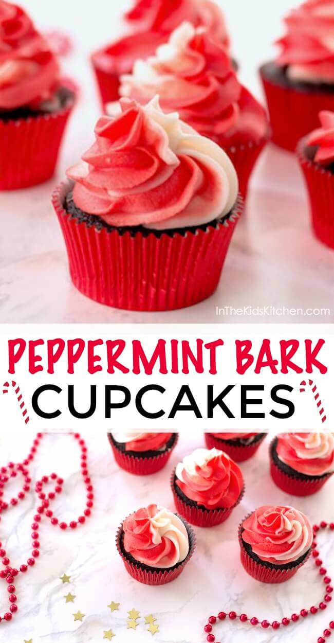 One bite of these Chocolate Peppermint Bark Cupcakes and you'll see why we love them so much! Plus they're absolutely gorgeous!