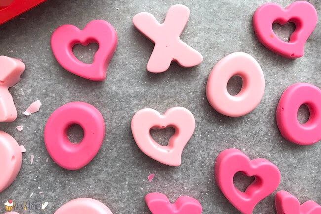 XO and heart candy molds