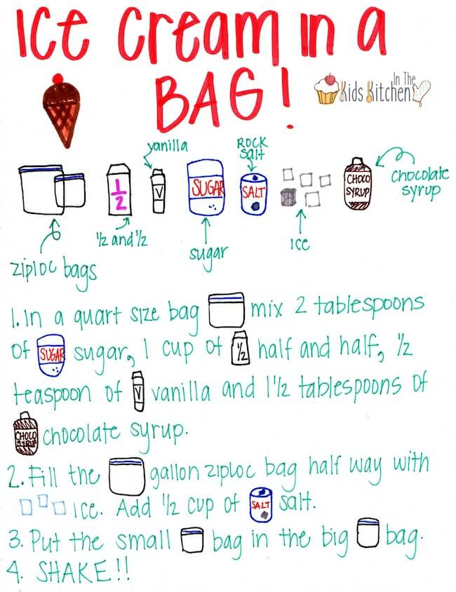 Homemade Ice Cream in a Bag - In the Kids' Kitchen