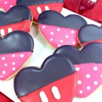 Minnie & Mickey Mouse Heart Cookies
