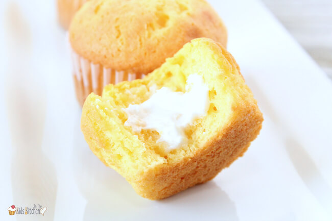 These fun Twinkie Cupcakes are a spot-on copycat of the childhood favorite!