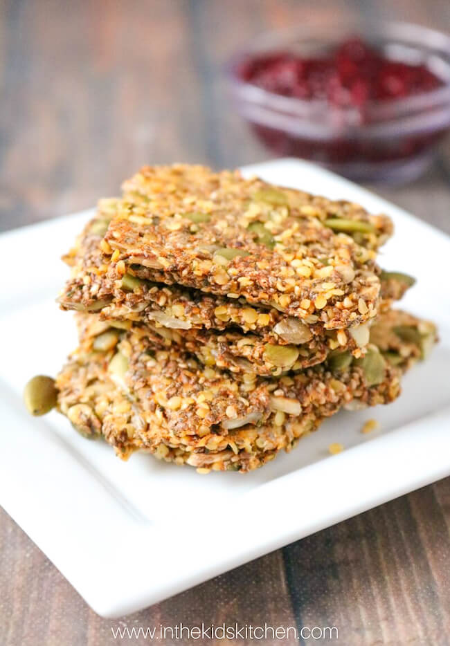 Our healthy seed crackers are a snack that you can feel good about serving them! Gluten free, protein-packed, so yummy!