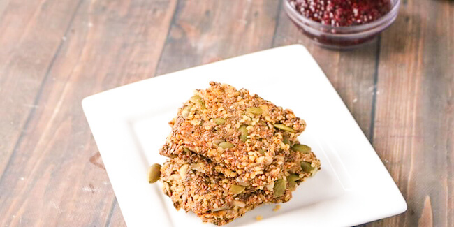 Fact of life: kids LOVE crackers! Our healthy seed crackers area snack that you can feel good about serving them! Gluten free, protein-packed, so yummy!
