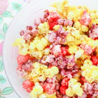 Candy Coated Jello Popcorn