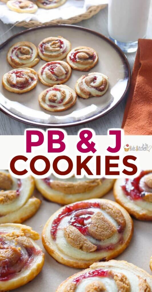 Peanut butter and jelly cookies are a clever twist on a childhood favorite!