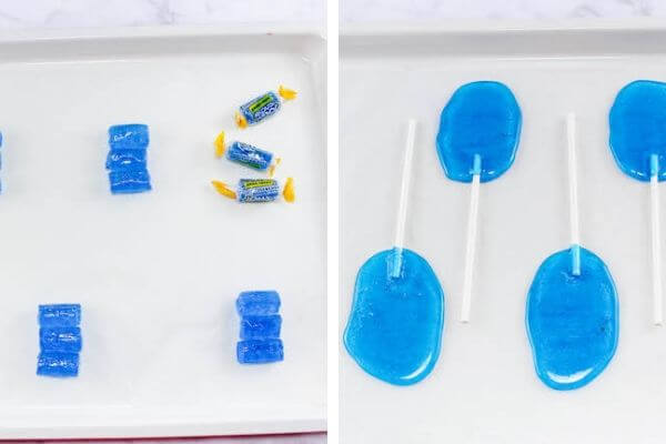 melting Jolly Ranchers to make lollipops