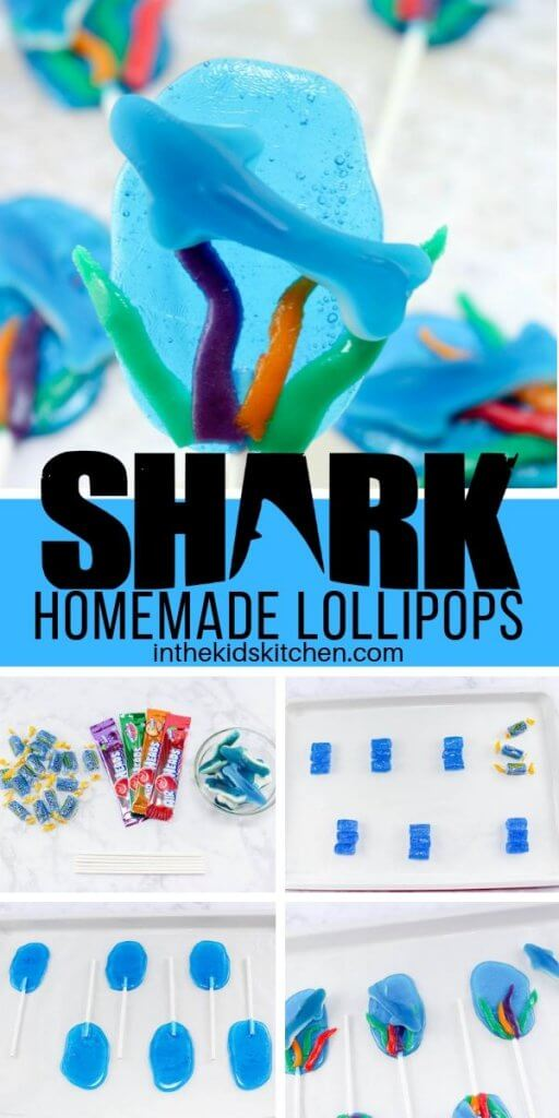 Use our clever candy-making trick to create these eye-catching and tasty shark lollipops! Perfect for shark week!