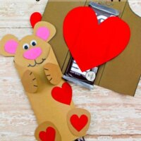 Valentine's Teddy Bear Chocolate Bar Wrappers